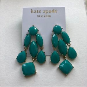 Kate Spade Faceted Crystal Earrings Turquoise